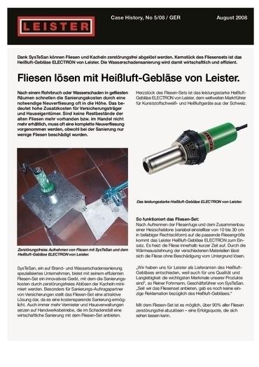 thumbnail of Electron ST – Fliesen lösen mit Heißluft-Gebläse