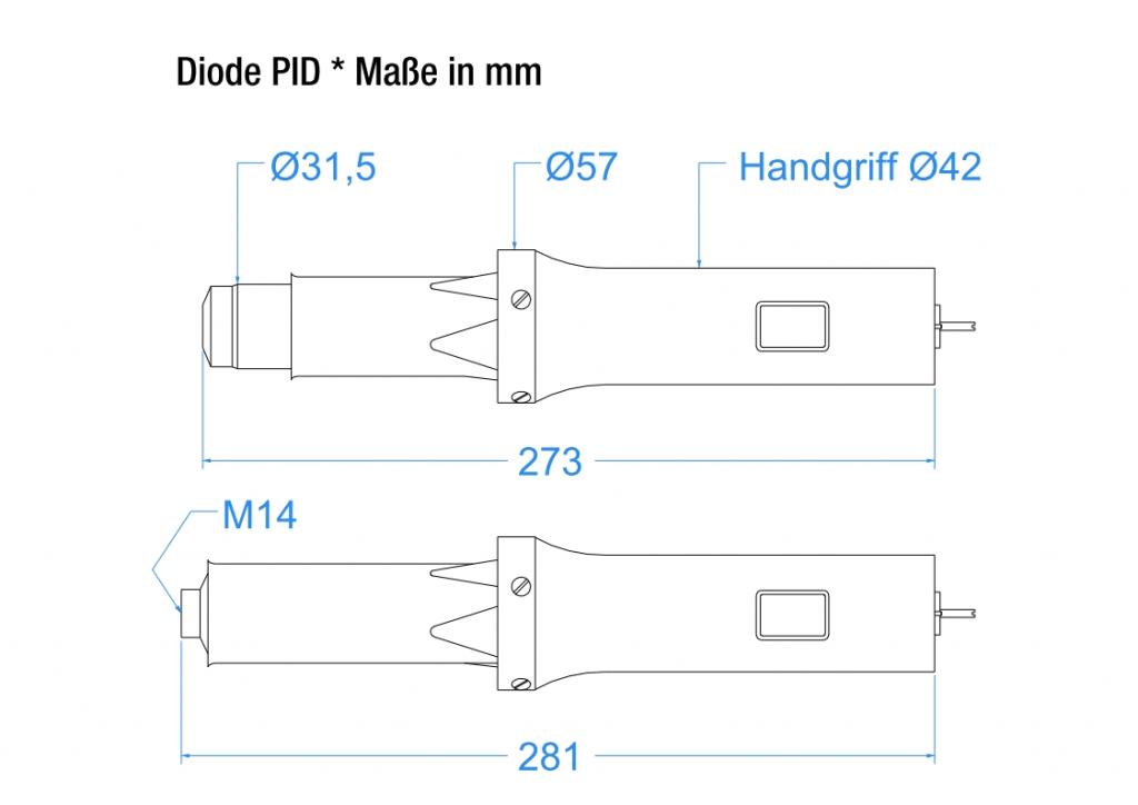 Diode PID - technische Zeichnung