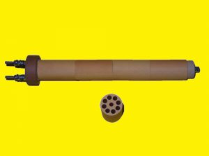 Heizstab rund 29mm aus Mehrlochrohr Keramik