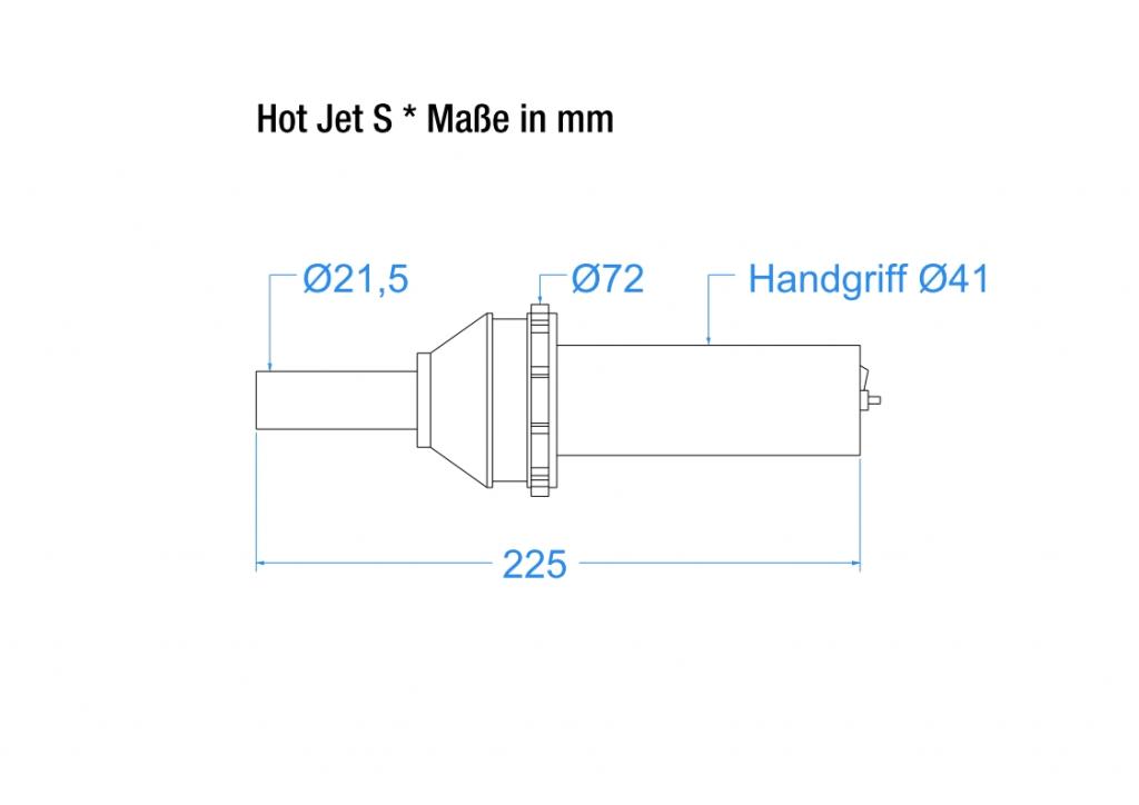 Hot Jet S - technische Zeichnung