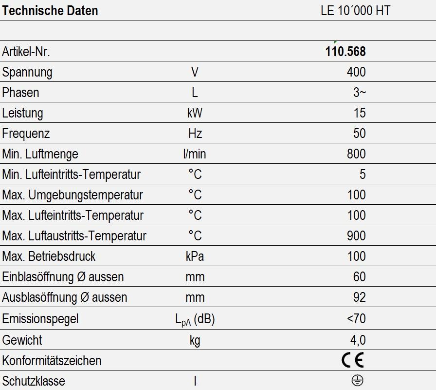 LE 10000 HT - technische Daten