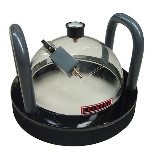 Prüfglocken und Vacuumpumpe