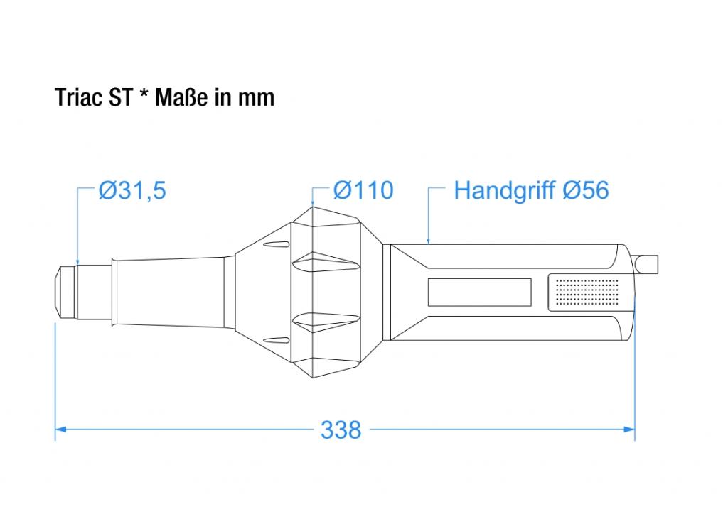 Triac ST - technische Zeichnung